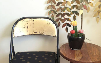 folding chair makeover before after, home decor, painted furniture, repurposing upcycling