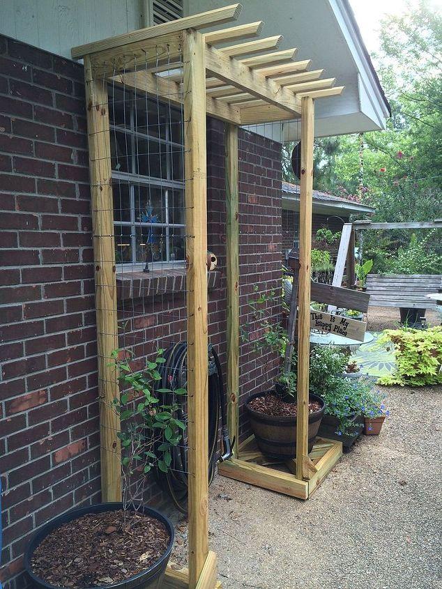 Garden Ideas Trellises Inexpensive Diy Gardening Outdoor Living Kitchen Window Trellis