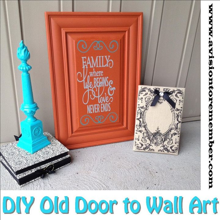 Repurpose Old Cabinet Door Into Wall Art Hometalk