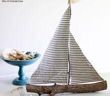 quick and easy diy sailboat decor, crafts, home decor