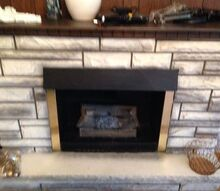ugly electric fireplace needs updating, fireplaces mantels, home decor