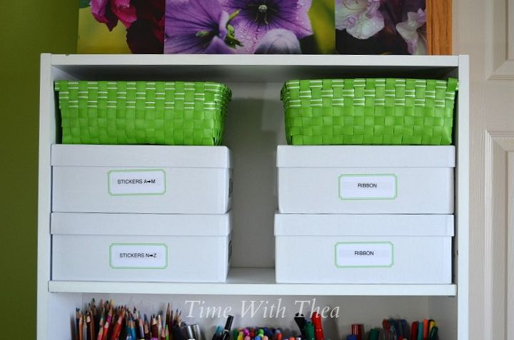 Inexpensive And Unexpected Items To Your Craft Supplies Rooms Organizing Shelving