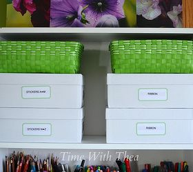 Inexpensive And Unexpected Items To Store Your Craft Supplies, Craft Rooms,  Organizing, Shelving