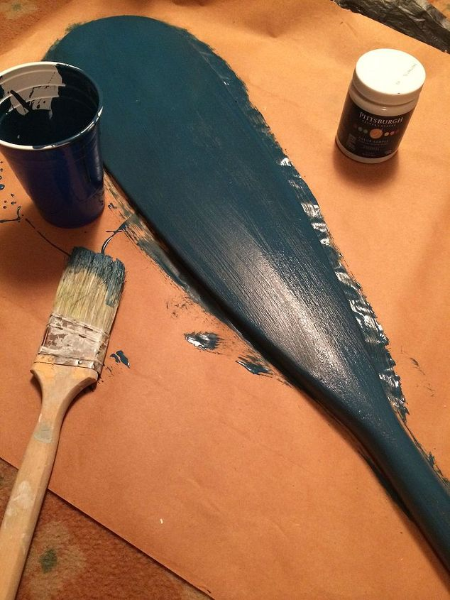 craft upcycle boat oar address sign, chalk paint, crafts, repurposing upcycling