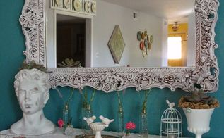 vintage garden mantel peace love garden, fireplaces mantels, home decor, living room ideas