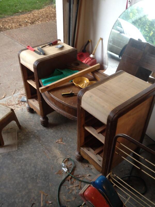 Staining Wood Vanity Vintage Renew Painted Furniture Most Veneer Off