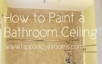 how to painting bathroom ceiling, bathroom ideas, diy, how to, painting, wall decor