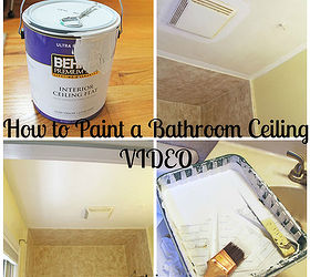 How To Painting Bathroom Ceiling, Bathroom Ideas, Diy, How To, Painting,