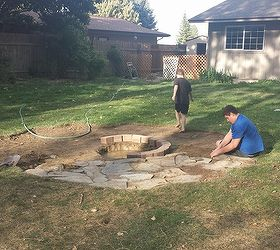 Backyard Ideas Fire Pit Build Patio, Diy, Outdoor Living, Patio, Laying The