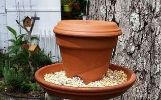 garden ideas clay pot bird feeder, crafts, gardening