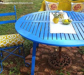 Patio Ideas Painted Blue Bright, Outdoor Furniture, Outdoor Living, Painted  Furniture, Patio