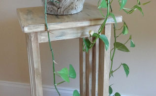 diy plant stand makeover, home decor, painted furniture