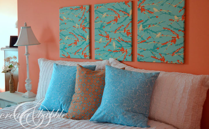 Craft Headboard Fabric Cover Canvases Bedroom Ideas Home Decor Reupholster Wall
