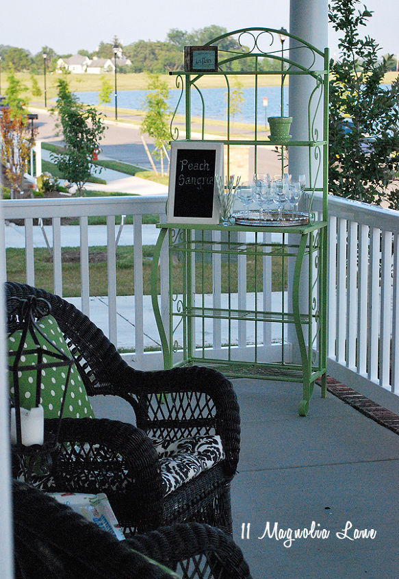Upcycled Baker S Rack To Patio Esential Hometalk