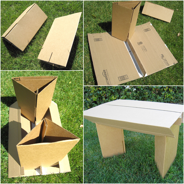 how to furniture cardboard duct tape, diy, go green, outdoor furniture, outdoor living, repurposing upcycling