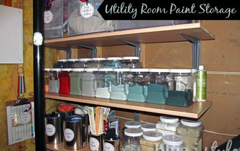organizing paint storage basement, organizing, storage ideas