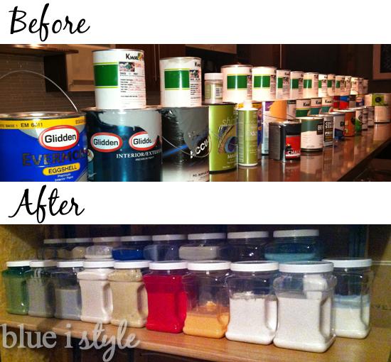 Organizing Paint Storage Basement Ideas