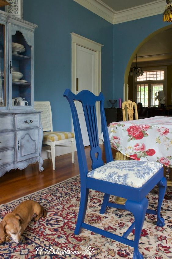 Painting and Reuphostering Chairs for Dining Room | Hometalk