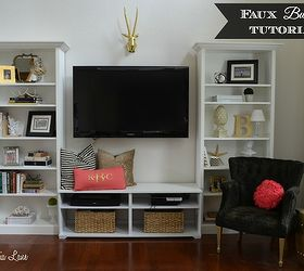 Delicieux Living Room Ideas Shelves Faux Built In, How To, Living Room Ideas, Painted