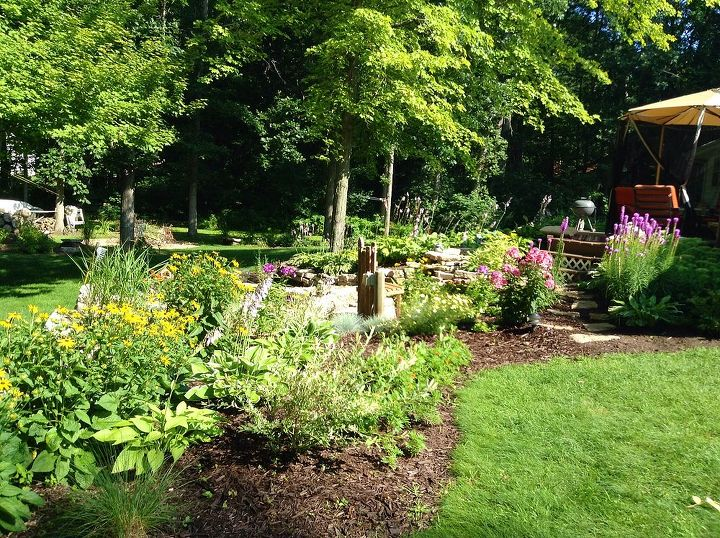 gardening midwest backyard summer, flowers, gardening, outdoor living, ponds water features