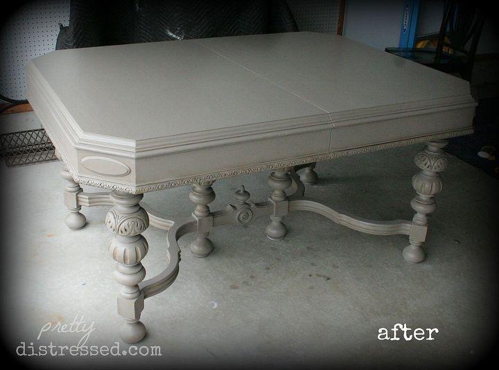 Reviving Antique Kitchen Table With Chalk Paint Hometalk