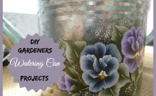 garden ideas watering can art planters, container gardening, flowers, gardening, repurposing upcycling