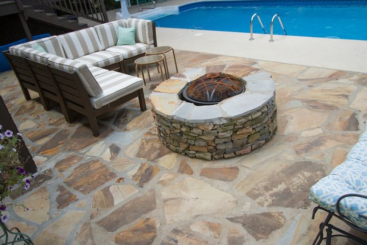 white painted brick exterior, concrete masonry, curb appeal, decks, painting, patio, pool designs