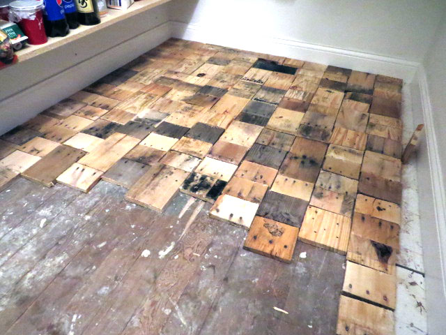 Pallet Floors Redo Flooring Diy Hardwood Repurposing Upcycling