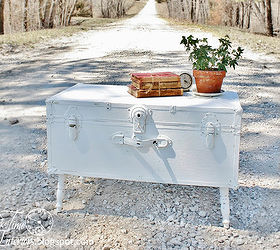 Shabby Chic Vintage Trunk Coffee Table Upcycle, Painted Furniture,  Repurposing Upcycling, Shabby Chic