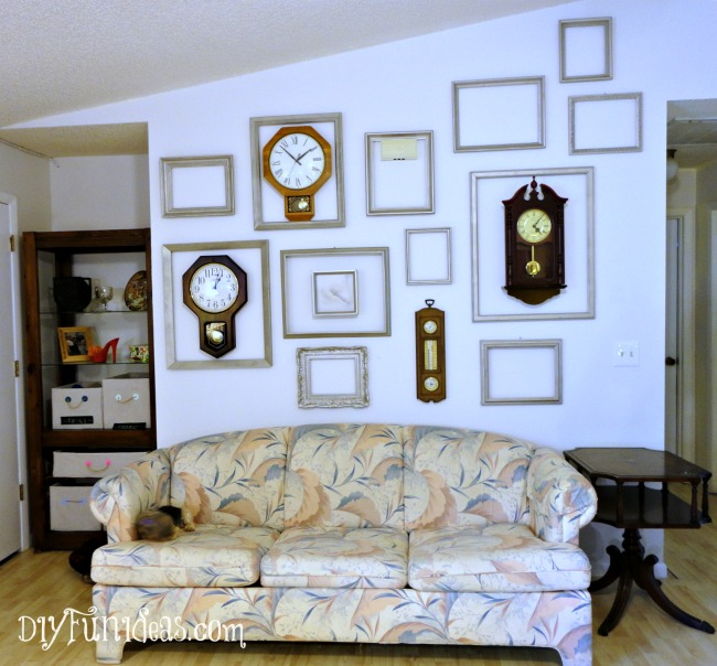 $11 Clock & Frame Gallery Wall | Hometalk