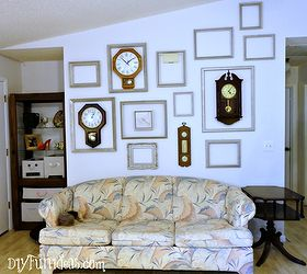 Wall Art Clock Gallery Low Cost, Home Decor, How To, Living Room Ideas