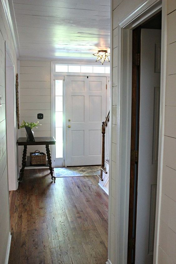 plastered to paneled entry, foyer, home decor, painting, stairs, wall decor