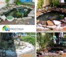 before and after, landscape, outdoor living, ponds water features