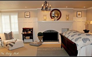 painting fireplace white brick before after, bedroom ideas, concrete masonry, home decor, paint colors, painting, wall decor