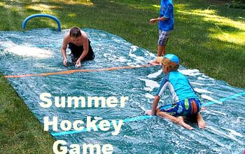 """Summer Hockey Game  """"Slip and Slide"""" Version  Fun for Kids of All Ages"""