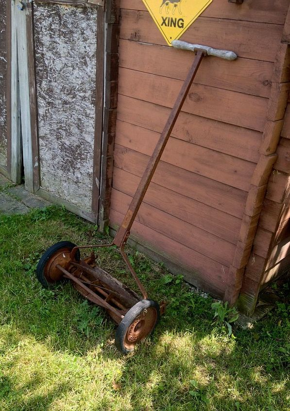 what can i do with a old reel lawnmower, repurposing upcycling