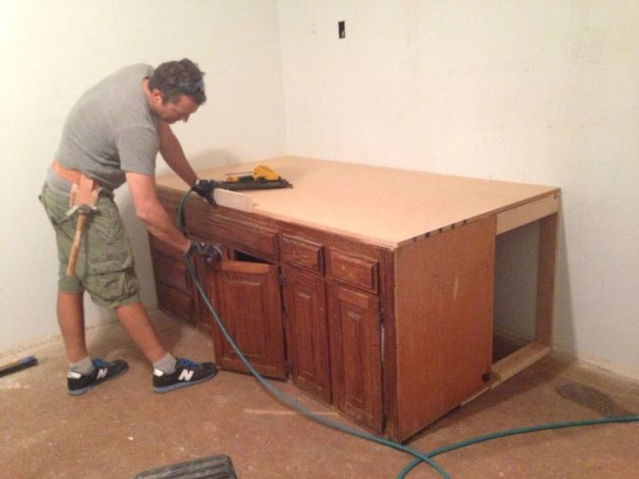 Old Kitchen Cabinets Into Built-In Bed Hometalk