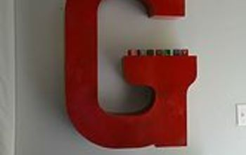 how to hang marquee letter wall large, how to, wall decor