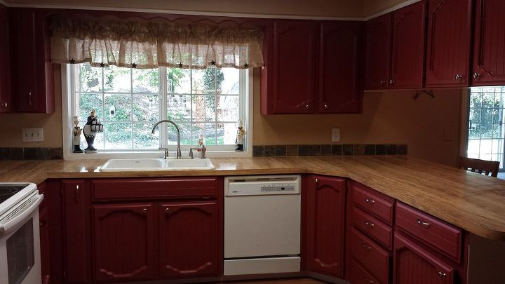 kitchen cabinets paint makeover, kitchen cabinets, kitchen design, painting