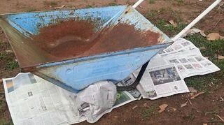 q garden ideas rusty wagon art, gardening, repurposing upcycling