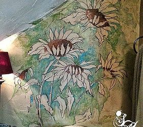 Small Bathroom Redos Painting Mural Floral, Bathroom Ideas, Painting, Wall  Decor