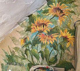 Small Bathroom Redos Painting Mural Floral, Bathroom Ideas, Painting, Wall  Decor