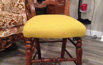 Shrunken Sweater Chair Reupholster