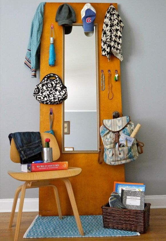 organizing back to school door, home decor, organizing, repurposing upcycling