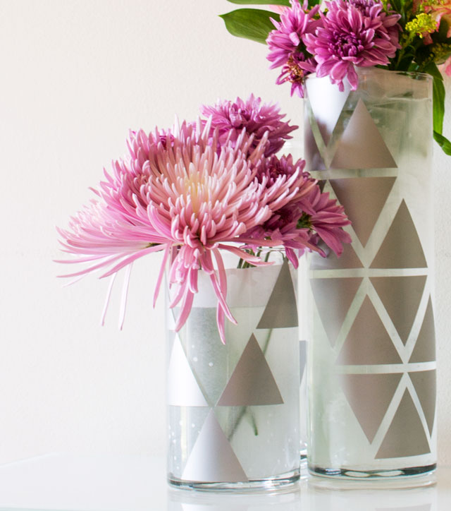 diy glass cups decal geometric vase, crafts, home decor