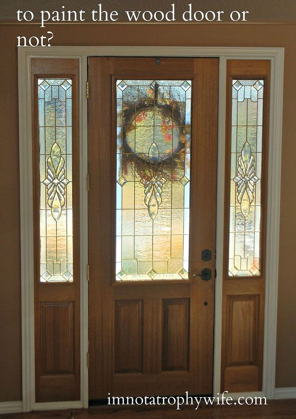 Foyer Door Color : Front door makeover from stain to paint hometalk