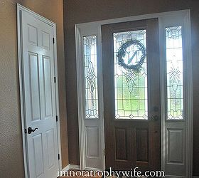 doors painted white makeover doors foyer paint colors painting & Front Door Makeover: From Stain to Paint | Hometalk