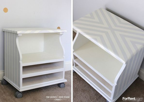 upcycled bedside table, painted furniture