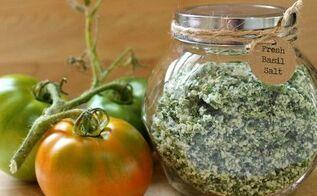 gardening basil salt preserving, gardening, homesteading