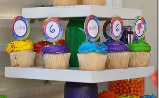 mason jar cupcake stand colorful, crafts, mason jars, repurposing upcycling